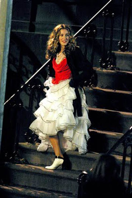 tiered skirt carrie bradshaw