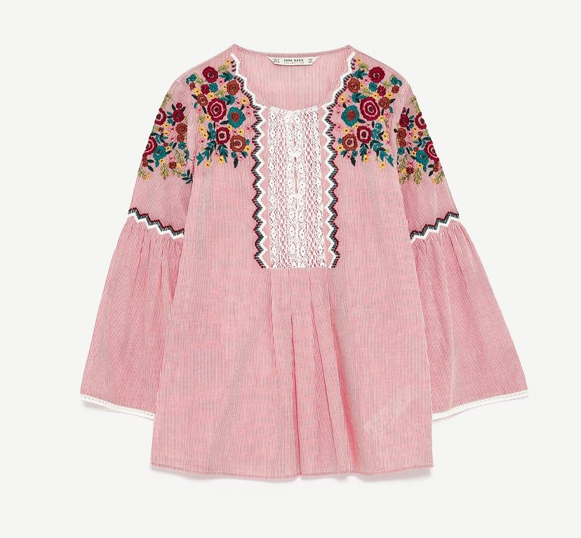 Zara boho blouse