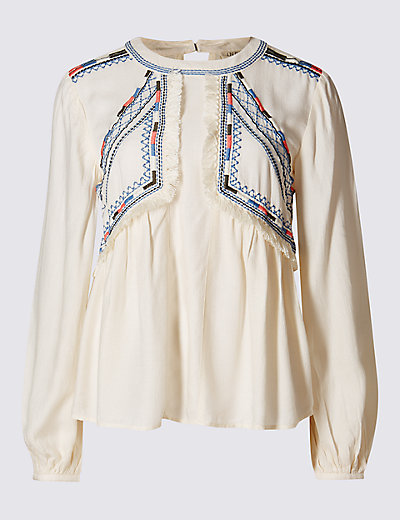 M&S boho blouse