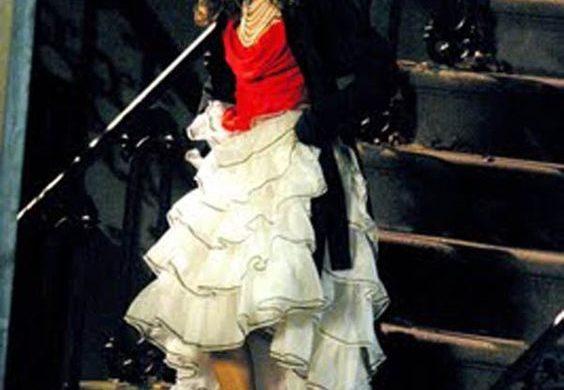 tiered skirt carrie bradshaw